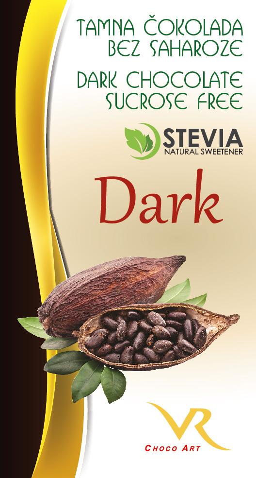 Čokolada bez saharoze obična 55% kakao