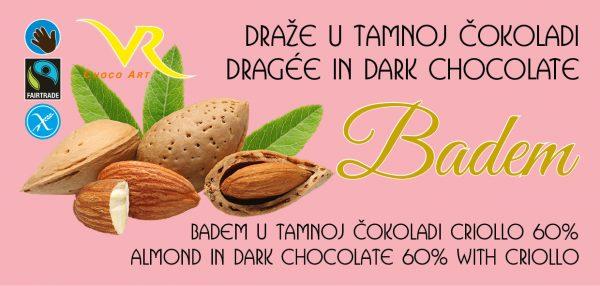 Dražeje badem u tamnoj čokoladi 1
