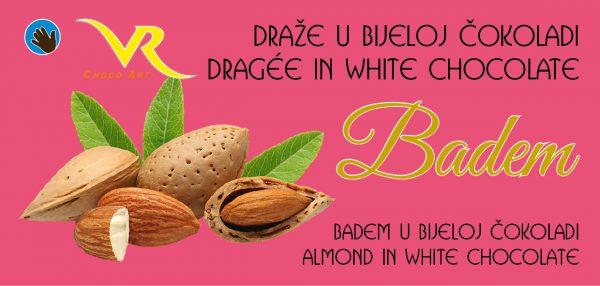 Dražeje badem u bijeloj čokoladi 1