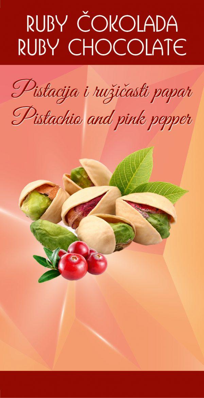 Ruby čokolada pistacio i rozi papar 1